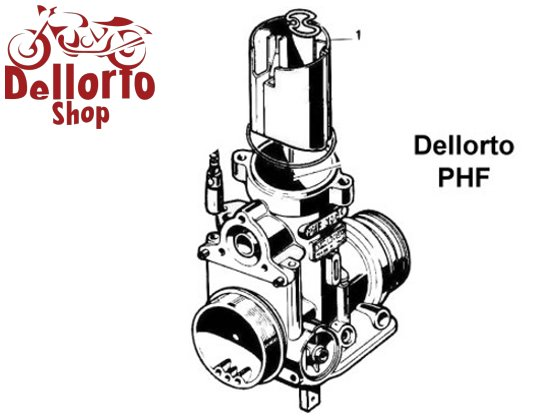 (10) Screw for the DOMED top cover of the Dellorto PHF carburetors