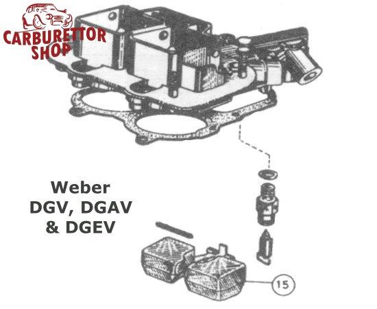 (15) Plastic Float for Weber DGAV DGV and DGEV carburetors - 41030 022