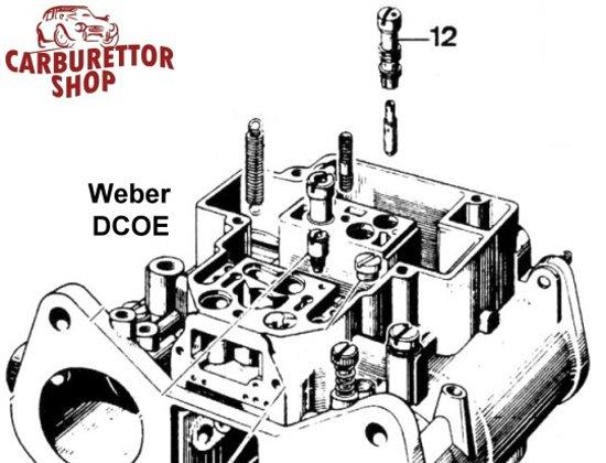 IDLE JET HOLDER for WEBER DCOE new 52585.006