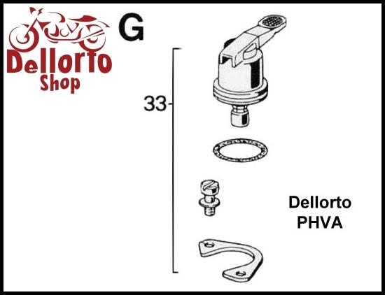 (33) Manual Choke Lever Kit for Dellorto PHVA carburetors