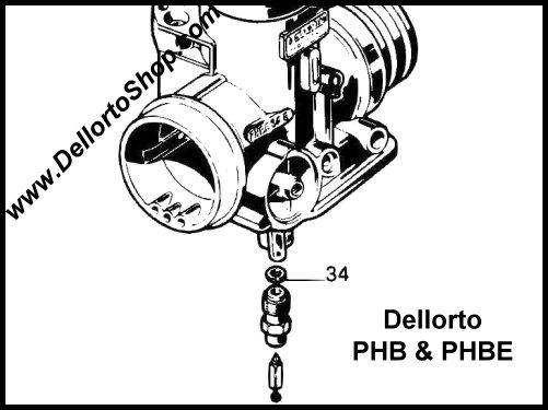 dellorto phb and phbe carburetor parts
