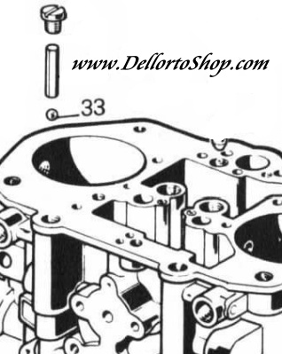 33 Pump Jet Ball Bearing For Dellorto Drla Carburetors