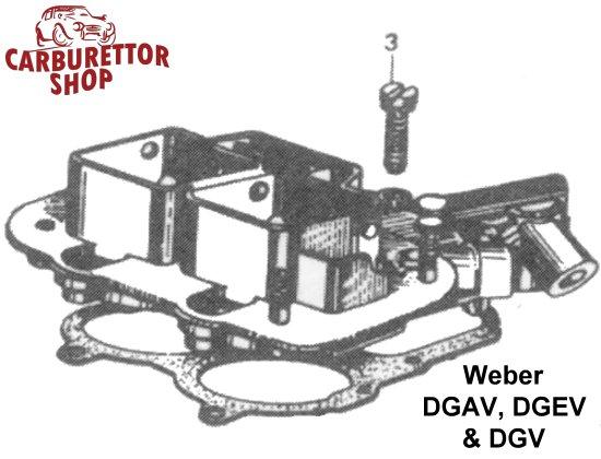 3  top cover screw for weber dgav dgev and dgv carburetors