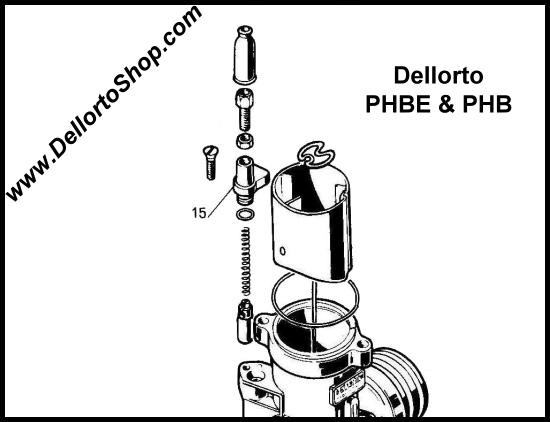 15 Choke Assembly Support For Dellorto Phb And Phbe Carburetors