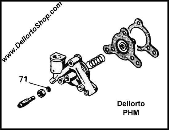 71 O Ring For The Pump Adjustment Screw On Dellorto Phm Carburetors