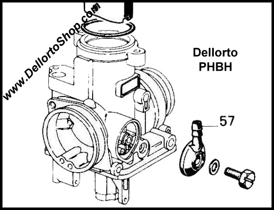 57 6 Mm Metal Fuel Inlet Banjo For Dellorto Phbh And Phbl Carburetors