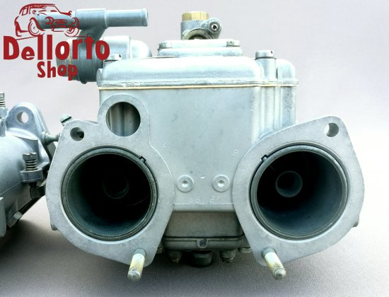 Restored matched pair of Dellorto DHLA40 carburetors for Alfa Romeo  105-Series 2000