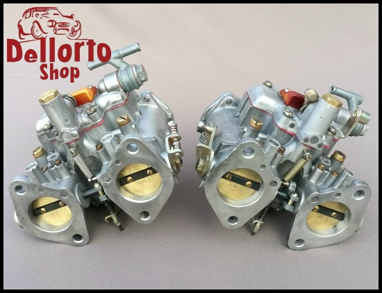 Restored matched pair of Dellorto DHLA40 G carburetors for Alfa Romeo 1800 and 2000