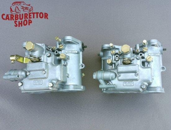Restored matched pair of Dellorto DHLA48 carburetors
