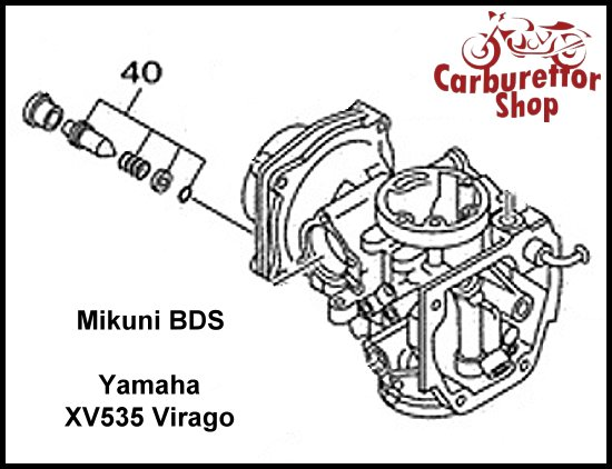(40) Pilot Screw Set for Mikuni BDS carburetors for Yamaha XV535 Virago