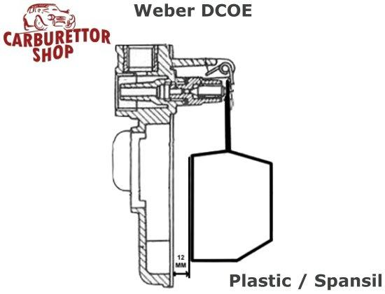 (9) Plastic Float for Spanish Weber DCOE DCO SP carburetors - 41030 034