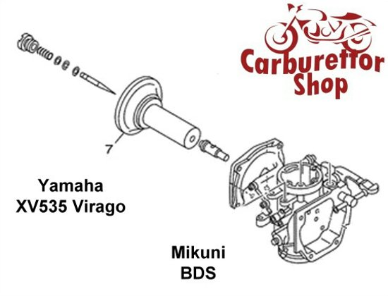 Comprehensive Service Kit for Mikuni BDS Carburetor on Yamaha XV 535 Virago  - FRONT