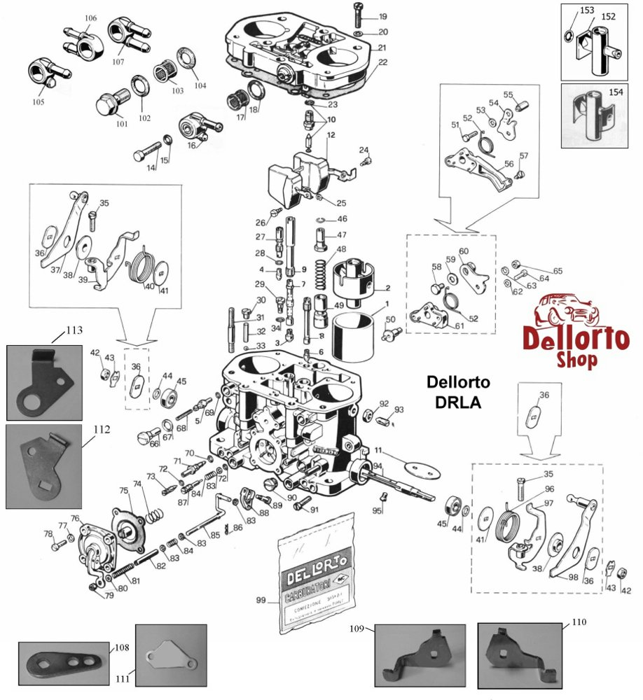 ... Dellorto DRLA Exploded View Drawing ...