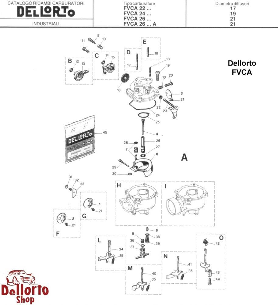 dellorto fvca caburetor parts rh dellortoshop com Haynes Repair Manuals Mazda Vehicle Repair Manuals