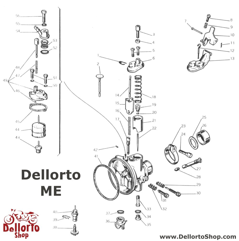 ... Dellorto ME Exploded View Drawing ...