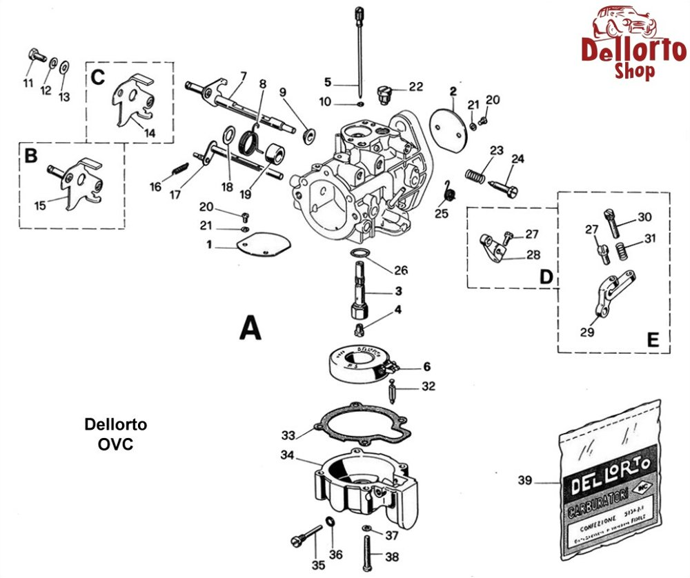... Dellorto OVC Exploded View Drawing ...