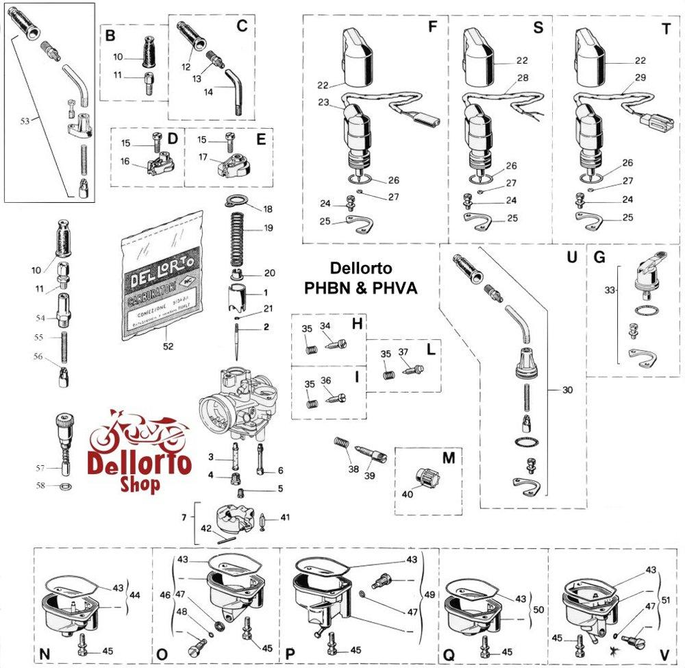 dellorto phbn and phva carburetor parts. Black Bedroom Furniture Sets. Home Design Ideas