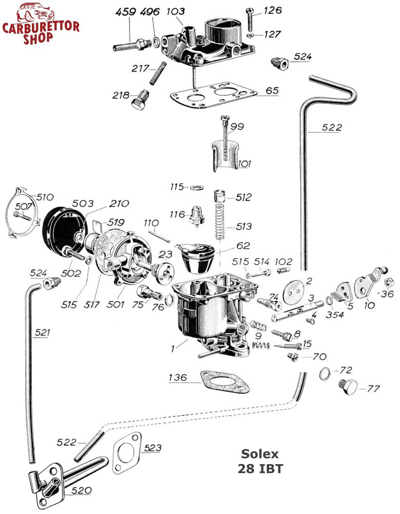 Solex Ibt Carburetor Parts And Service Kits