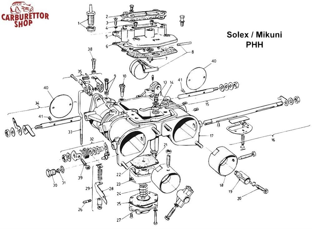 solex phh carburetor parts rh dellortoshop com
