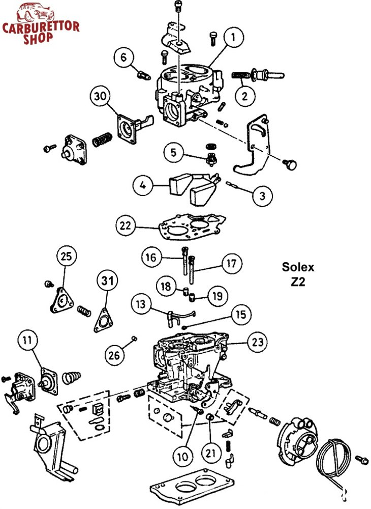solex z2 carburetor parts and service kits rh dellortoshop com