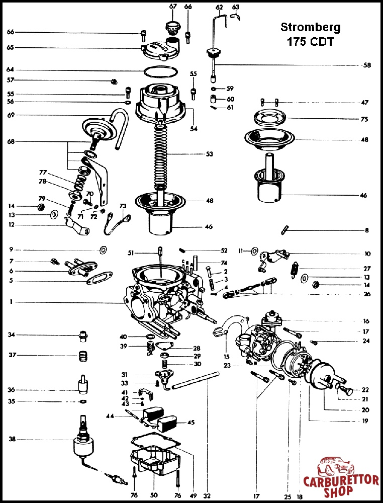 Stromberg Carburetor Diagram - Wiring Diagram Sys