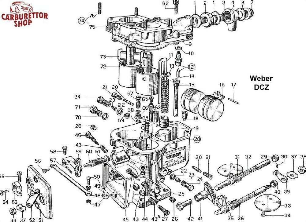 (16) Original Brass Float for Weber DCZ Carburetors - 41030 011